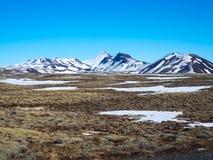 Berglandskap i Island Royaltyfri Foto