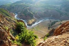 Berglandskap i kurdistanen, Turkiet Arkivbilder