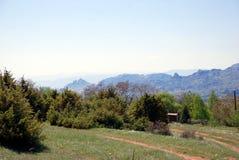 Berglandskap i Makedonien Fotografering för Bildbyråer