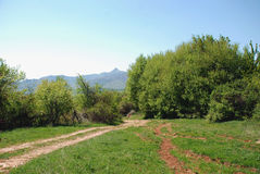 Berglandskap i Makedonien Arkivfoton