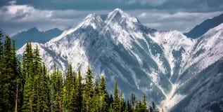 Berglandskap, kanadensiska steniga berg Fotografering för Bildbyråer