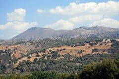 Berglandskap, Kreta Royaltyfri Foto