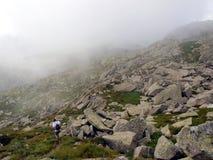 Berglandskap med maxima i de låga molnen, Brentaen Dolo Fotografering för Bildbyråer