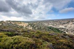 Berglandskap på den östliga delen av Kretaön, Grekland Fotografering för Bildbyråer