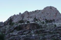 Berglandskap på en fotvandra slinga, Corse, Frankrike Royaltyfri Foto