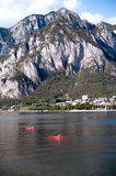 Berglandskap på sjön Lecco Royaltyfria Foton