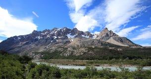 Berglandskap, Patagonia, Argentina Royaltyfria Foton