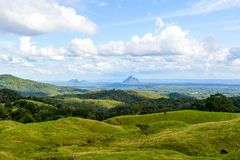Berglandskap Queensland Arkivbild