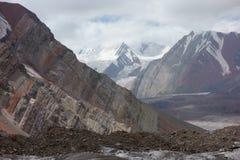 Berglandskap. Taket av världen Arkivfoto