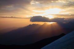 Berglandskap. Taket av världen Royaltyfri Foto