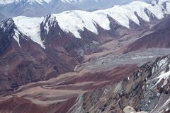 Berglandskap. Taket av världen Royaltyfria Bilder