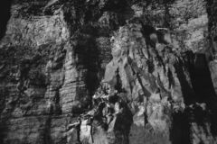 Berglandskapbw royaltyfria bilder