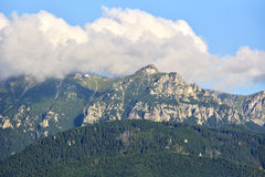 Berglandskapet, bucegiberg romania Arkivbilder