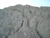 Berglandskapet i Krim himmelberg kyler alla Arkivbilder