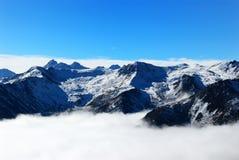 berglandskapsichuan snow arkivbild