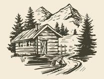 Berglandskapvektor vektor illustrationer