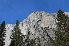 BerglandskapYosemite nationalpark Royaltyfri Bild