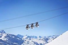 Berglift Stock Afbeeldingen