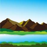 Bergliggande Arkivbild