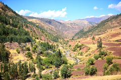 Bergliggande i Peru Royaltyfria Foton