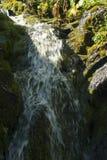 Bergliten vik med en vattenfall Royaltyfri Bild