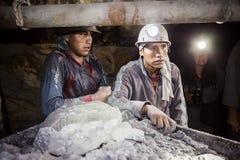 Bergmänner in Potosi lizenzfreies stockbild