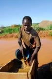 Bergmann in Afrika lizenzfreie stockfotografie