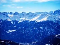 Bergmaxima i de österrikiska fjällängarna Royaltyfria Foton
