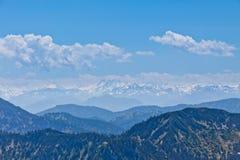Bergmaxima i snölock Royaltyfri Fotografi