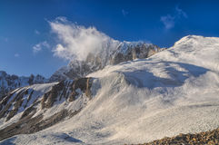 Bergmaxima i Tadzjikistan Arkivfoton