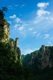Bergmaxima i Zhangjiajie, Kina Arkivfoto