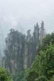Bergmaxima i Zhangjiajie Kina Arkivbilder