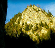 Bergmaximum i solen Arkivfoto