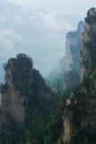Bergmaximum i Zhangjiajie Kina Fotografering för Bildbyråer