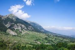 Bergmaximum Majella Abruzzo Italien Royaltyfri Fotografi