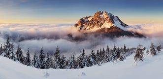 Bergmaximum på vintern - Roszutec Royaltyfria Bilder