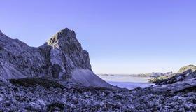 Bergmaximum Velika Zelnarica, Triglav nationalpark, Slovenien arkivfoto