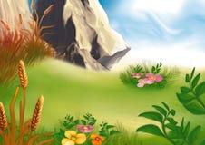 Bergmedow lizenzfreie abbildung