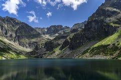 Bergmeer in hoge tatras polen Royalty-vrije Stock Afbeeldingen
