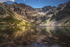 Bergmeer in hoge tatras polen Royalty-vrije Stock Afbeelding
