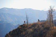 Bergmening in de Altai-Bergen Royalty-vrije Stock Foto