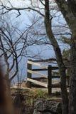 Bergmening met bomen Stock Afbeeldingen