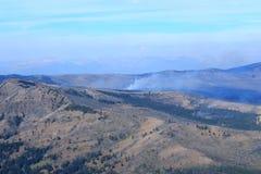 Bergmening van bosbrand Royalty-vrije Stock Fotografie