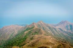 Bergmening van platteland in Azië Stock Afbeeldingen