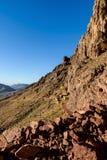 Bergmorgonlandskap nära av det Moses berget, Sinai Egypten Royaltyfria Bilder