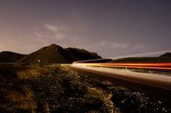 bergnattväg som löper upp Royaltyfria Foton