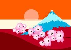 bergnatur stock illustrationer