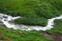 bergnorway flod Arkivbilder