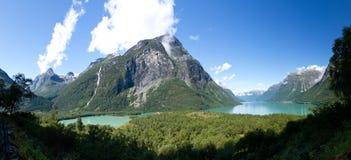 bergnorway panorama Royaltyfri Bild