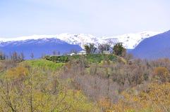 Bergområde av Abchazien Royaltyfri Foto
